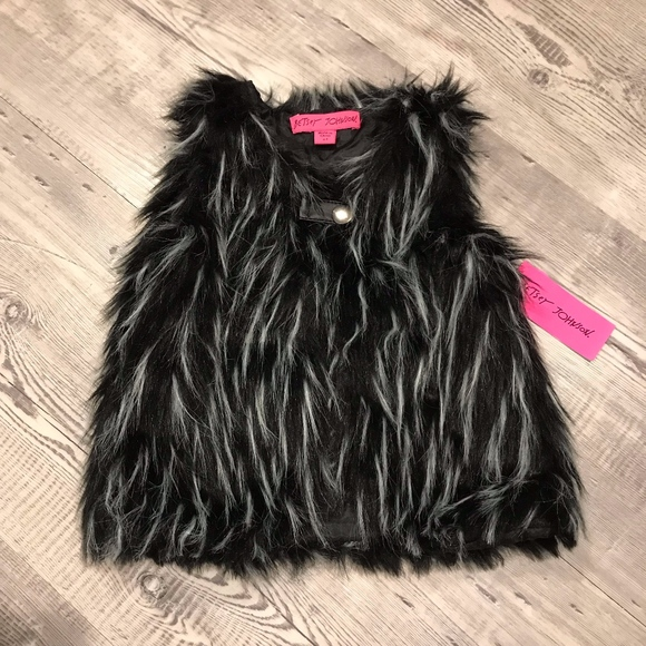 Betsey Johnson Other - NEW Betsey Johnson Toddler Faux Fur Vest